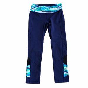 LuLuLemon blue capri leggings, Sz 4, VGUC